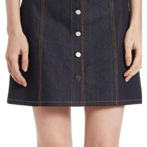 Theory denim button front skirt